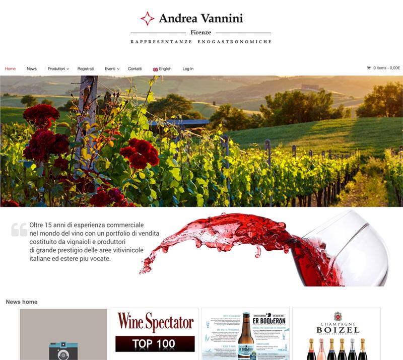 Nuovo sito per Andrea Vannini