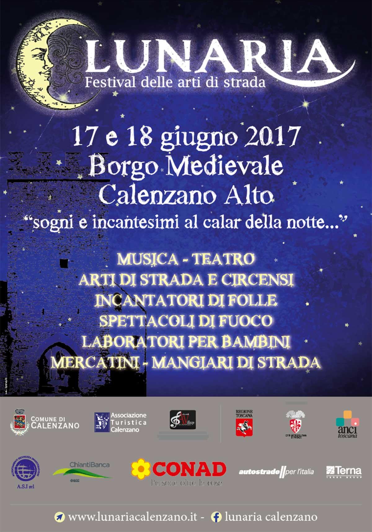 """""""Lunaria"""", il festival di strada al Castello di Calenzano Alto"""