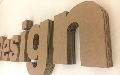 Lettering in cartone alto spessore